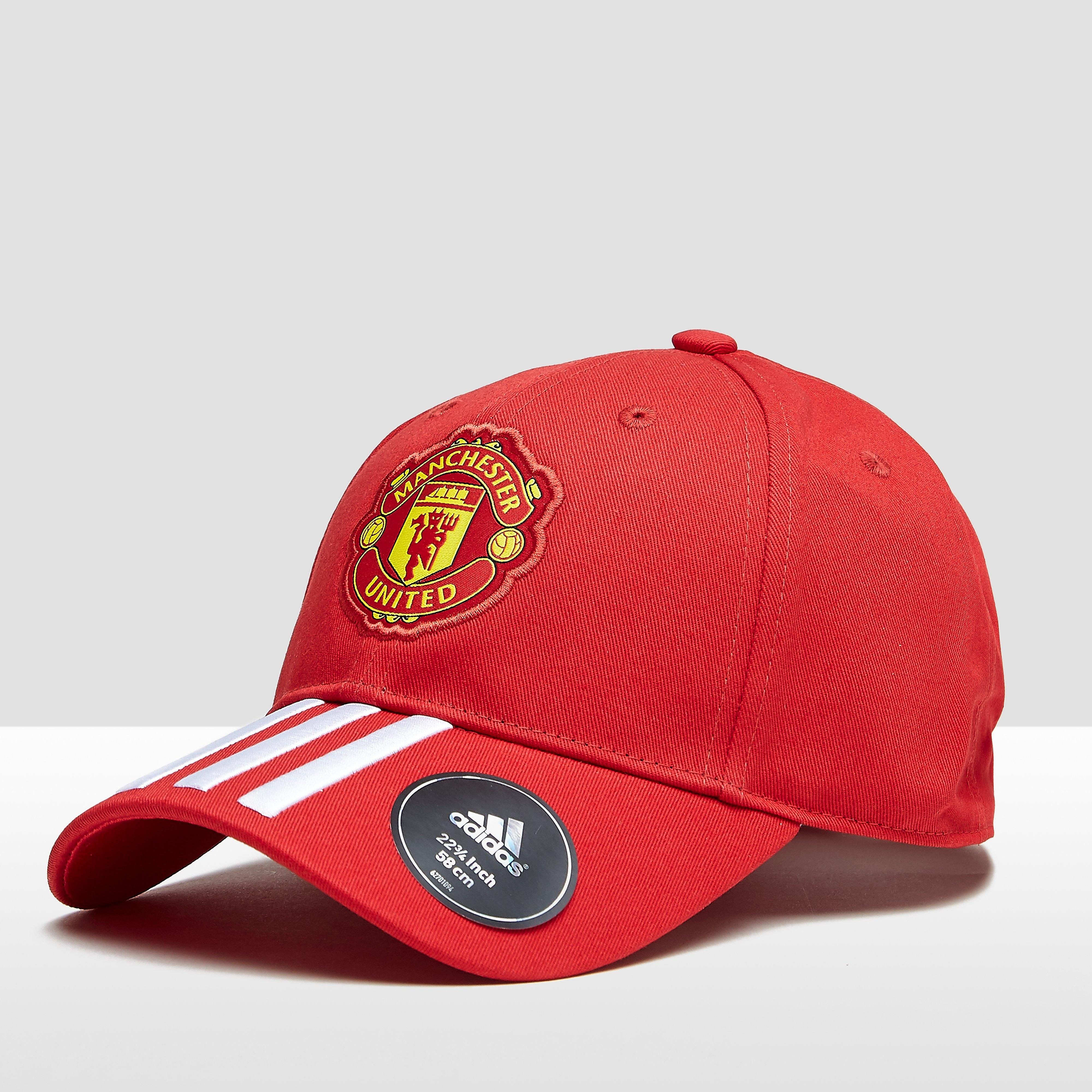 MANCHESTER UNITED FC 3-STRIPES 17/18 PET ROOD/WIT HEREN thumbnail